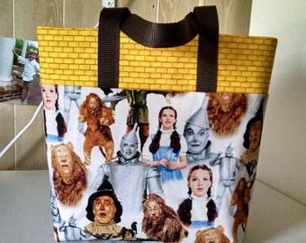 Childrens Wizard of Oz Tote Bag Library Bag Preschool Bag Ladies Tote  Reusable Gift Bag