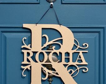 Personalized Sign , Monogram Door Sign , Personalized Door Hanger , Monogram Anniversary Gift , Monogram Garden Flag , Wreath Obsessed