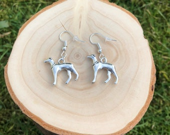 Greyhound earrings, greyhound gifts, dog lover gifts, dog owner gift, birthday gifts, greyhound accessories, dog accessories, pet gifts, dog