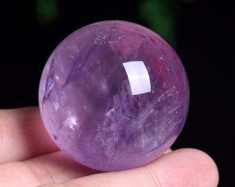 Amethyst Crystal Sphere Healing/Natural Amethyst Quartz Crystal Sphere Healing W011