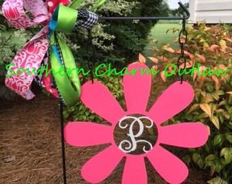 Garden Flag - Monogram Garden Flag - Flower Monogram Garden Flag - Flower Garden Flag- Monogram Flower Yard Decor -Monogram Flower Yard Sign
