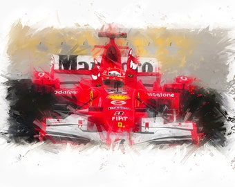 Last Victory - Michael Schumacher F1 Giclée Print from original painting