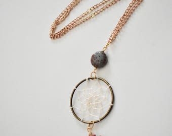 Orbicular JASPER Dreamcatcher and ARROWHEAD Necklace
