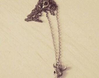 Collier tête de buffle// Cadeau pour femme
