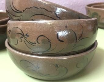 small chocolate dessert bowls