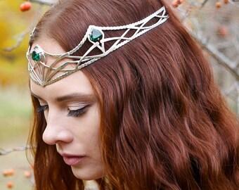 Fairy Elven crown - Silver Bridal Diadem - Celtic Circlet - Headdress Circlet - Jewelry Diadem - Elven Bridal Tiara – Tolkien lotr  Rhiannon