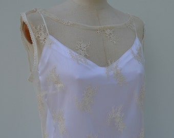Top Bridal lace cover-up in champagne lace, wedding, Bridal, lace cover-up champagne boat neck top tank, tank top