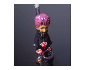 Naruto Character On Gara Handmade Tobacco Smoking Pipe, Plus 5 Brass Screens