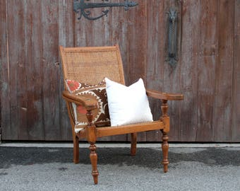 Elegant Antique Plantation Chair, Colonial Lounge Chair, Antique Lounge  Chair, Patio Chair,