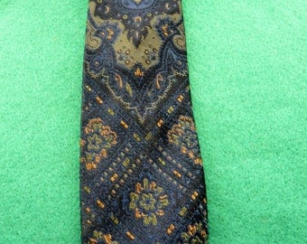 1960's Vintage Hardy Amies Pure Silk Patterned Tie