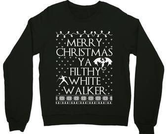 game of thrones. game of throne christmas sweater. game of thrones sweater. game of throne christmas. GOT. White walker. stark. john snow.