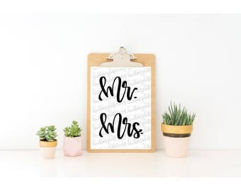 Mr. and Mrs. SVG - Mr. and Mrs. SVG File - Bride and Groom SVG - Wedding svg - Wedding Cut File - Wedding Cutting File - Cricut Cut File