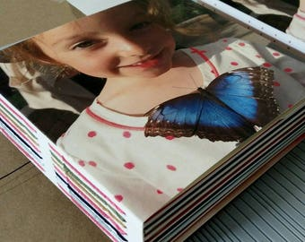 CUSTOM BOOK of BOOKS | handmade tacket-bound pochette envelopes and pamphlet-stitched insert books using your personal artwork images photos