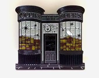 HPinstreet Diagon Alley OLLIVANDER'S soft enamel lapel PIN / Harry Potter Magic Wand Shop Hogwarts / BUNCEandBEAN