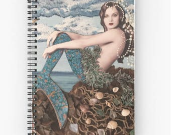 little mermaid spiral notebook journal mermaid tale notebook
