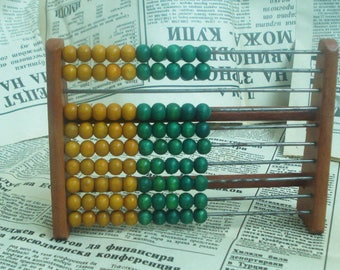 Vintage Wooden Abacus - Bulgarian Vintage Abacus 1970s - Small Wooden Abacus - Counting Frame - Old Wooden Calculator-Wooden School Abacus