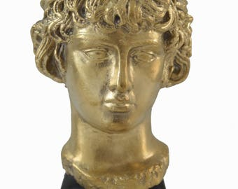 Antinous, Antinoos Bronze polished statue head bust