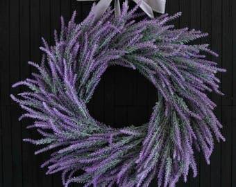 Artificial Lavender Front Door Wreath