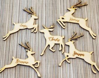 Deer Table Decor Deer place cards reindeer place cards Christmas table decoration Christmas place settings Christmas place cards