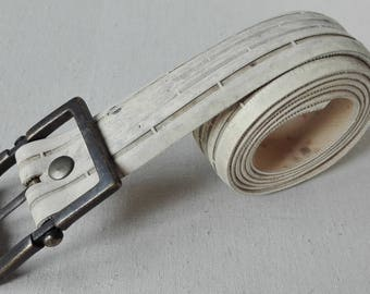 Belt from old bicycle tire, white