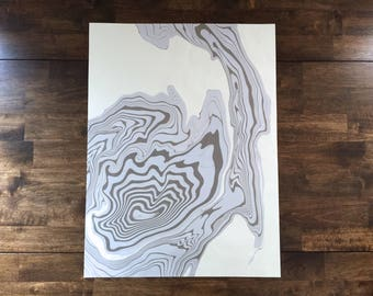 """18"""" x 24"""" One-of-a-kind Handmarbled Paper Art"""