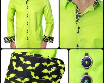 Halloween Themed Designer Dress Shirt - Made To Order in USA
