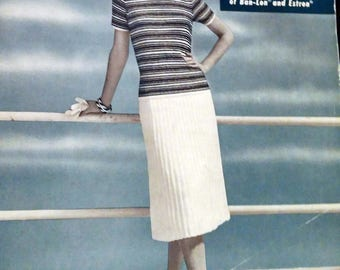 Knitting Book Magazine Cool Hand Knits Bucilla Glace Dresses Sweaters Cardigans Separates One to Crochet Vintage 1960s