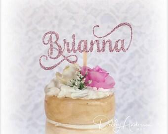 Name Cupcake Toppers, ANY NAME COLOR, Name Birthday Party Cupcake Toppers, Name Party Decorations, Girls Birthday Party, Custom Name Toppers
