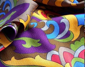 70's fabric, bulk fabric, mod fabric, 60's fabric, rayon fabric, psychedelic fabric