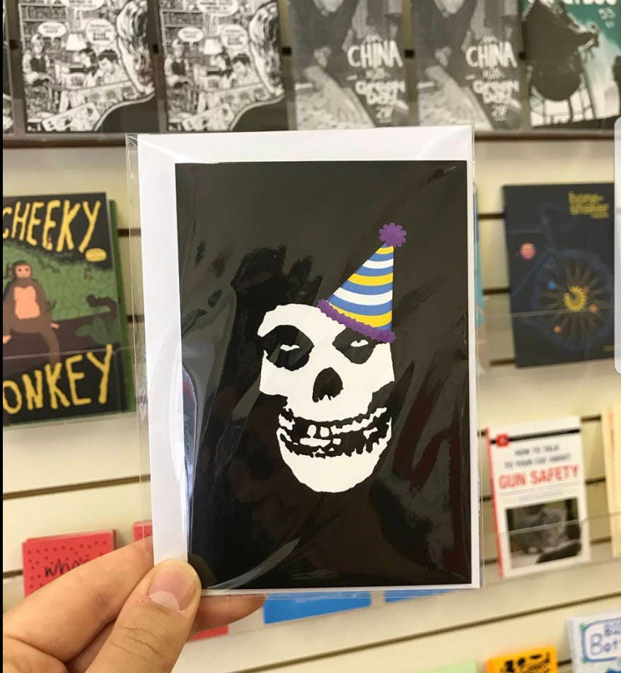 Misfits parody greetings card danzig punk goth birthday and misfits parody greetings card danzig punk goth birthday and christmas bookmarktalkfo Gallery