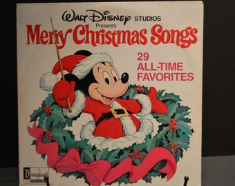 1978 Disneyland Records Merry Christmas Songs-29 All Time Favorites