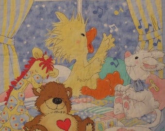 Vintage Little Suzy's Zoo small quilted blanket