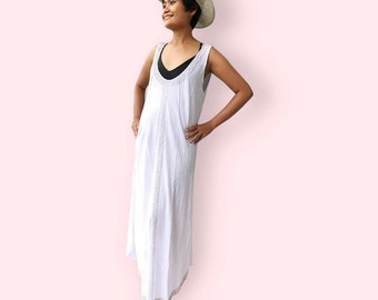 Elegant beaded beach dress, BW03 white, sleeveless dress,beach dress, holiday, maternity wear, lounge wear, poolside party wear, party dress