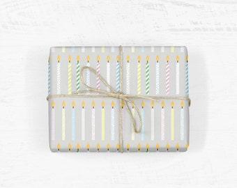 Candles Wrapping Paper
