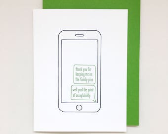 Family Plan Card // mother's day card, funny mother's day card, card for parents, thank you card, father's day card, funny father's day card