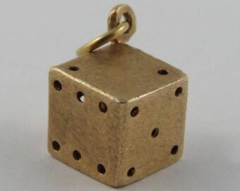 Die 14K Gold Vintage Charm For Bracelet