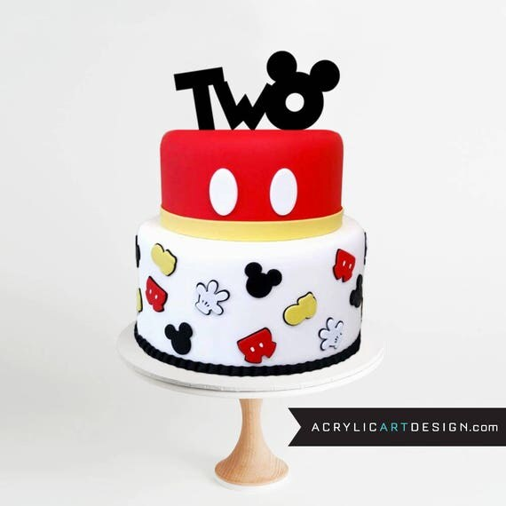mickey minnie wedding cake topper 2 mickey mouse cake topper two second birthday mickey ears 17353
