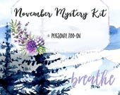 BREATHE (November Mystery) Personal Add-On Stickers | 15 Stickers | Planner Stickers | For Erin Condren LifePlanner
