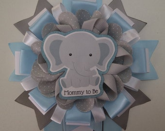 Baby Elephant Baby Shower Corsage
