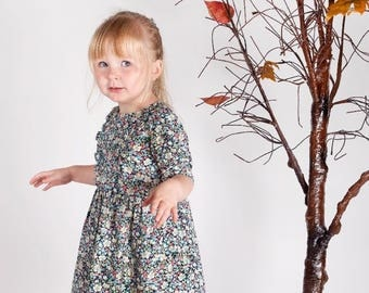 PEGGY Liberty Print Ruffle Front Dress, Handmade Girls Liberty of London, Tana Lawn, Bridesmaid, Flowergirl