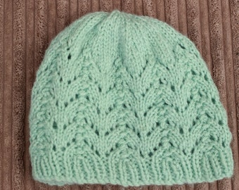 "Instant download ""isla"" knitted ladies  beanie knitting pattern, Beanie, Cap HKP6"