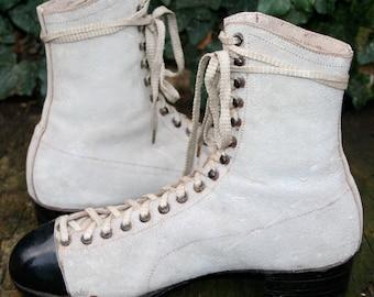 Antique Mens shoes/antique lace up boots for men