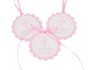 Baptism Favor Tags, Christening Favor Tags, Baptism Thank You Tags, Baptism Favors, First Communion Favor Tags, Baptism Gift Tag