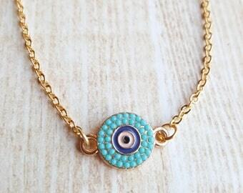 Evil Eye Necklace for Women Evil Eye Protection Jewelry Turkish Jewellry Evil Eye Necklace Gold Turkish Nazar's Boho Jewelry Cheap