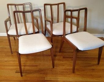 Mid Century John Stuart Set of Four Dining Chairs