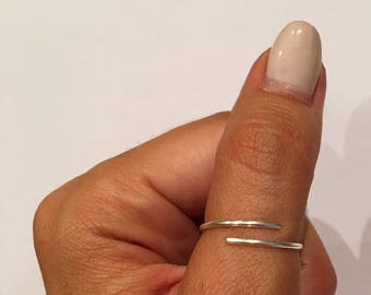 1 SILVER PLATED Midi Rings ,Waterproof/ Above Knuckle Rings/Simple Jewelry/Midi Ring Set/Adjustable  Ring /Midi Ring.