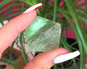 Raw Green Fluorite Healing Crystal Perfect for Making Healing Jewelry infused w/ Reiki