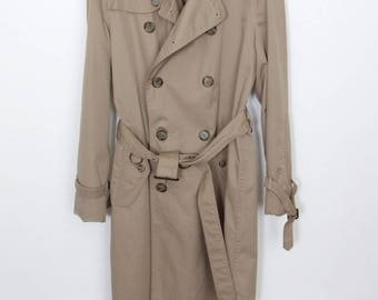Size 38L - 1980's vintage Joseph A. Bank cotton/polyester trench coat with liner