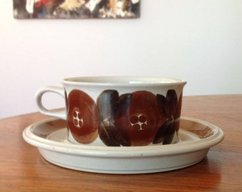 Arabia Rosmarin vintage coffee tea cups, made in 60s, Finland