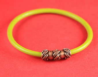 4A/1 MADE IN EUROPE 4mm cord magnetic clasp, 4mm round leather cord clasp, round cord zamak clasp (TM4NDC) Qty1